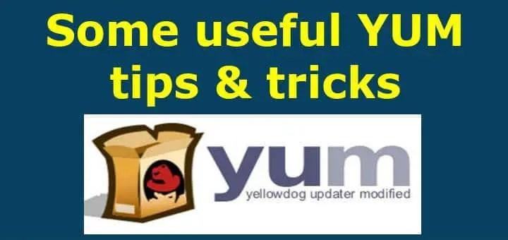 yum tips