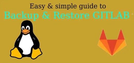 Backup & Restore GITLAB