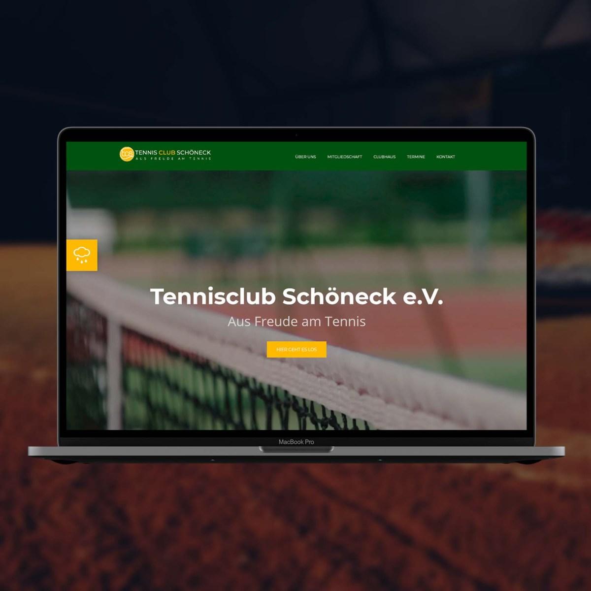 Сайт теннисного клуба