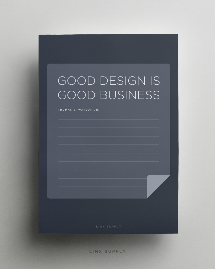 Good Design Is Good Business mock