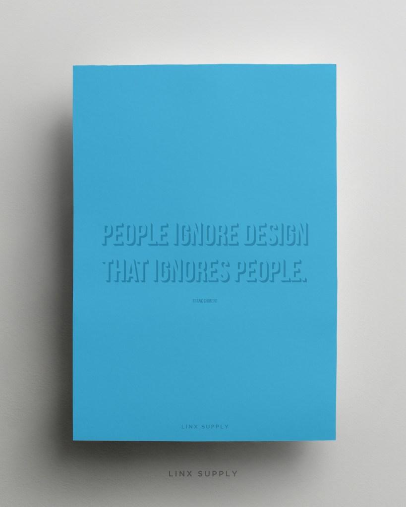 People ignore design mock