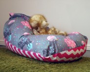Handmade kids reversible and custom beanbags