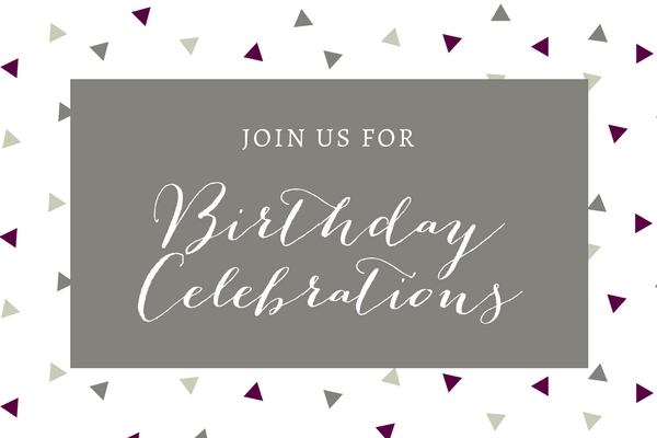 Join us to celebrate our 4th Birthday