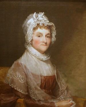 Gilbert Stuart a procrastiné quinze ans pour remettre ce tableau. J'espère qu'Abigail Adams n'a pas posé aussi longtemps.