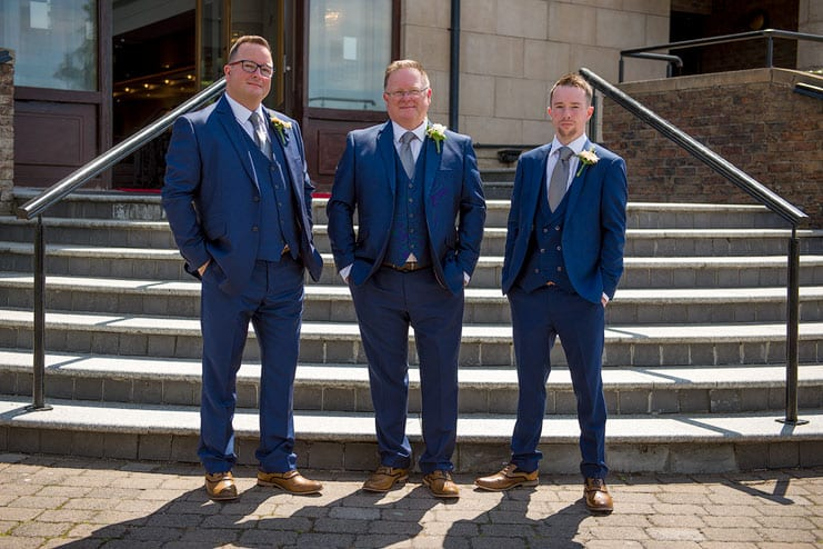 groom best man and groomsman