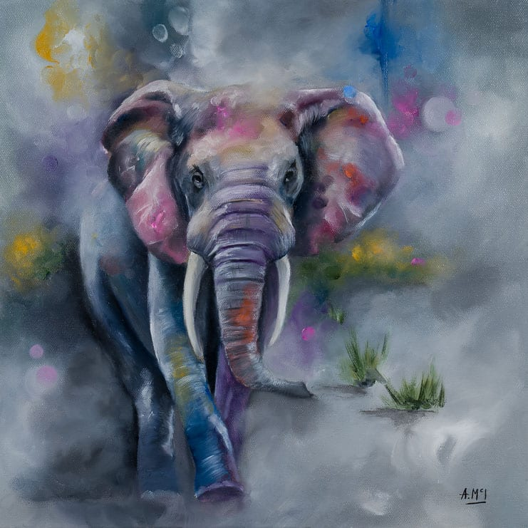 painting of an elephant by alison mcilkenny
