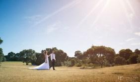 auckland wedding photography couple strolling sun