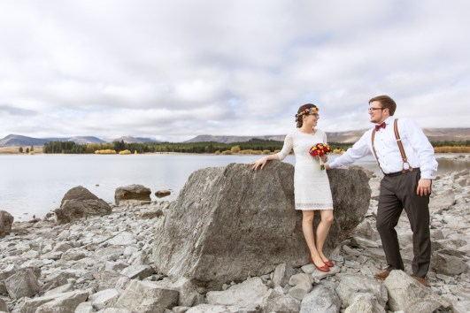 new zealand wedding by the lake