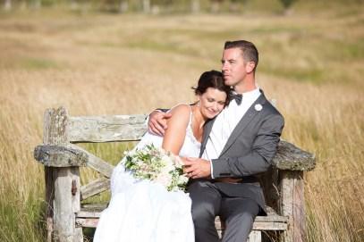 wedding bride and groom embracing