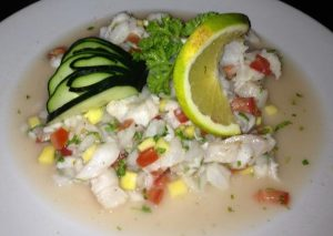 Lionfish Ceviche from La Perlita in Cozumel, Mexico