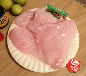 Fresh Lionfish Fillets Ready to Be Served as Sashimi