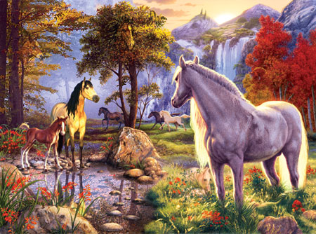 Fall Wallpaper Horses Lionheart Designs International Horse Jigsaw Puzzles