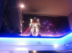 RX-78-2 Gundam spotted stalking everyone eat from the second floor.