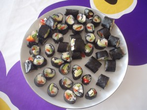 Vegan sushi. One of A's favourites <3