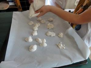 forming the meringue