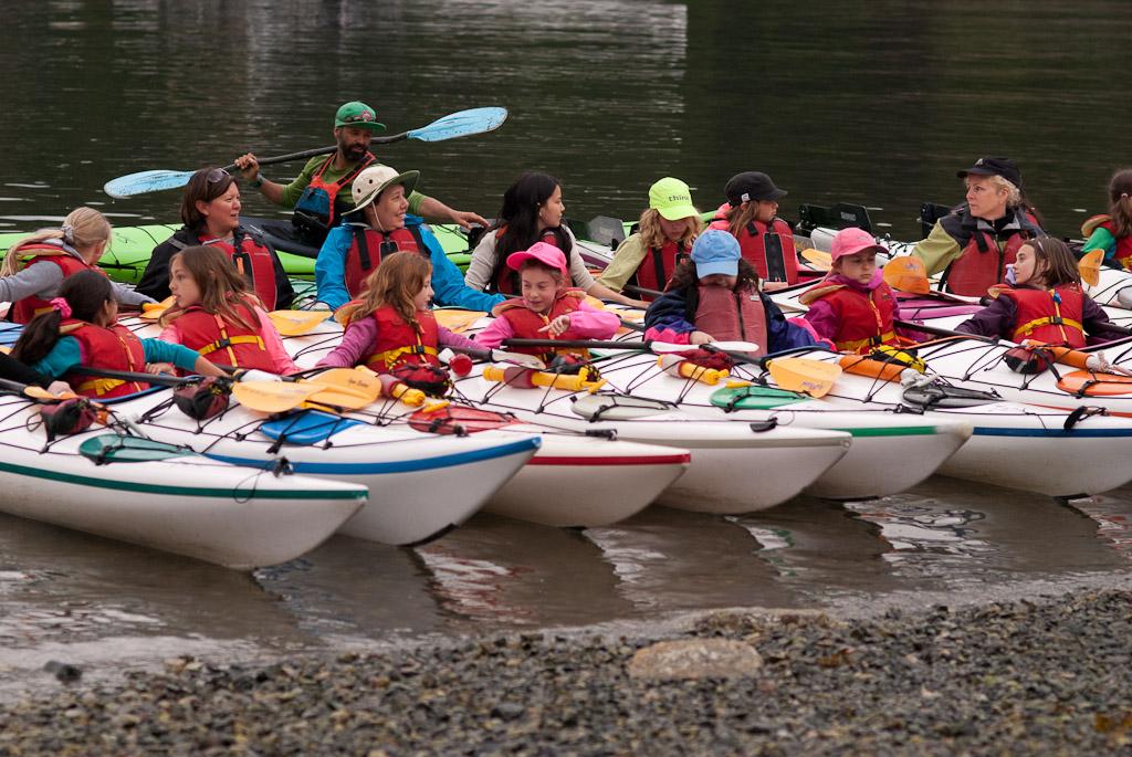 Grouse District Girl Guides kayaking