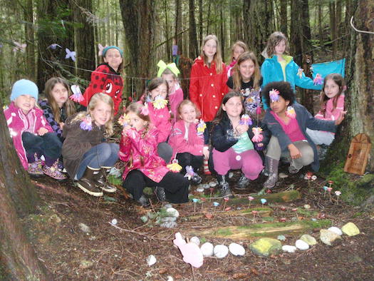 Squamish Girl Guides at Enchanted Forest, Camp Olave