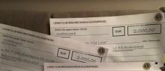 Schecks für zwei - doppelte Freude