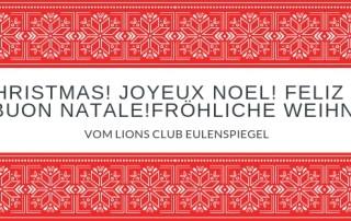 Lions wünscht FRÖHLICHE Weihnachten