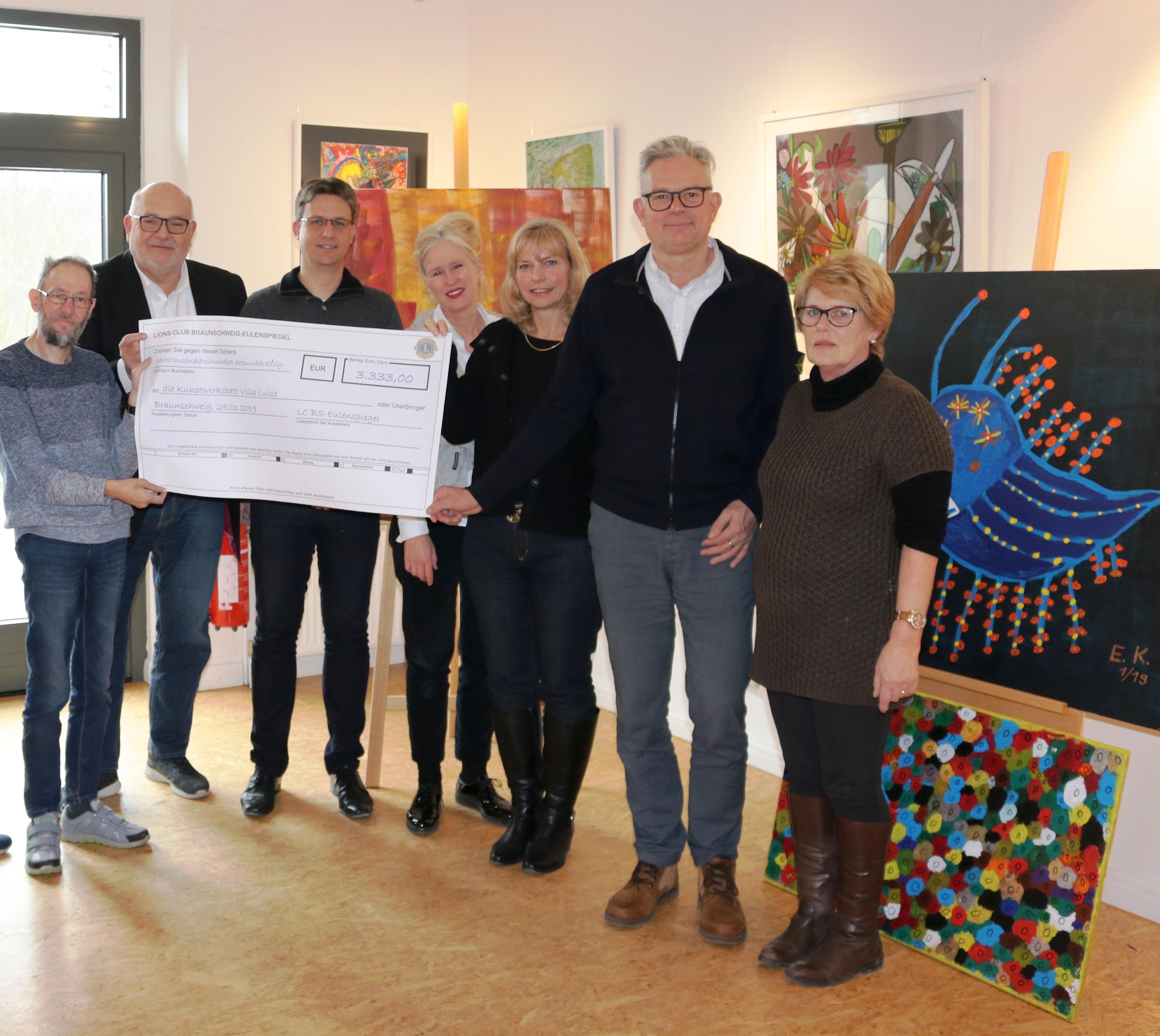 Lions Eulenspiegel 3333 Euro für die Villa Luise