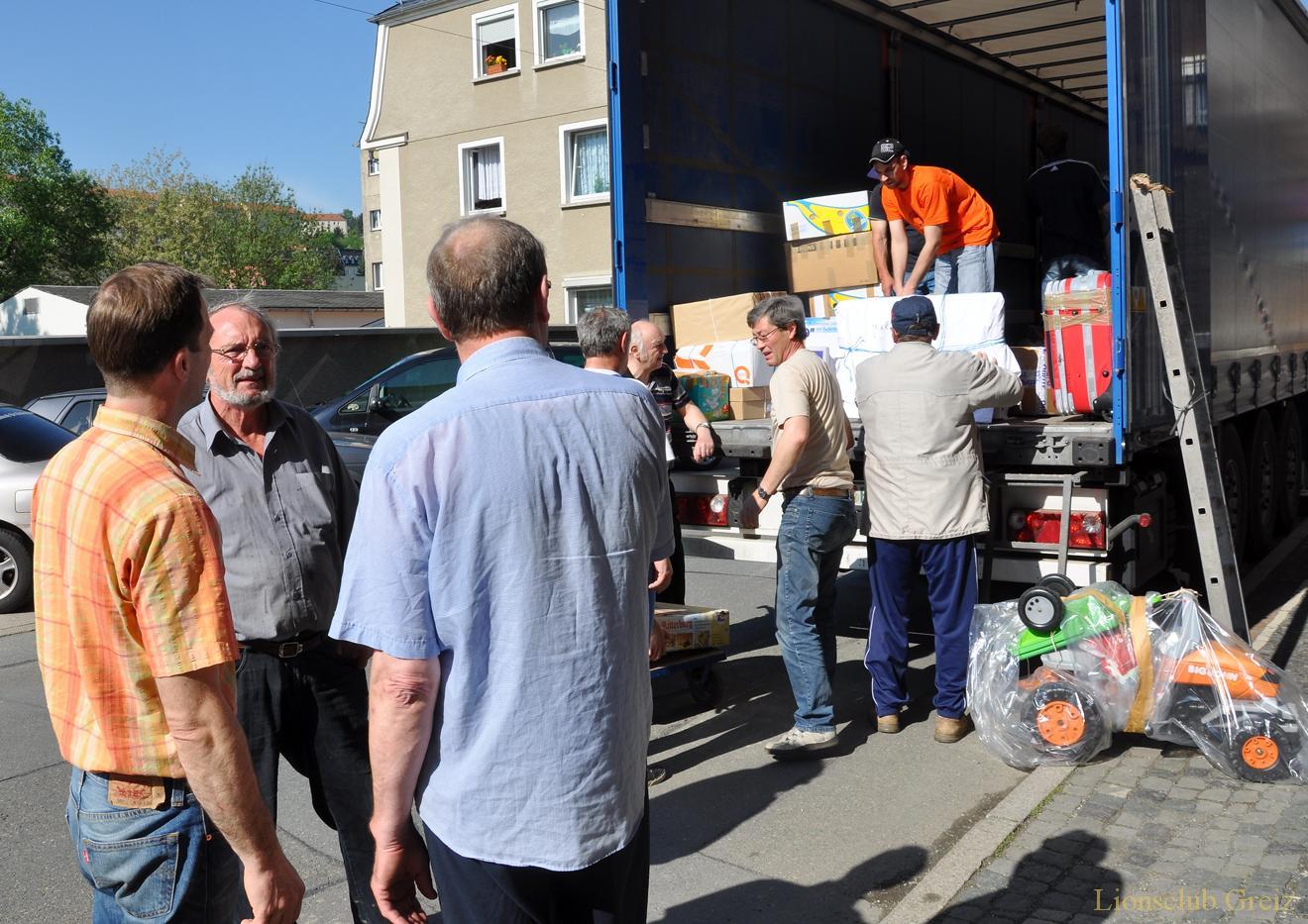 Lionsclub Greiz unterstützt den Hilfstransport nach Brest
