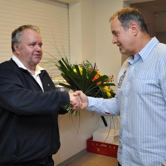 Greizer Lionsclub gratuliert Johannes Reiher zum 60. Geburtstag