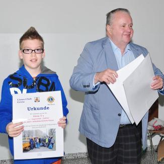 Lionsclub Greiz ehrt die fleißigsten Teilnehmer des Frühjahrsputzes
