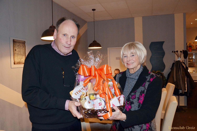 Lions Club Greiz: Reinhilde Limmer zum 75. Geburtstag gratuliert