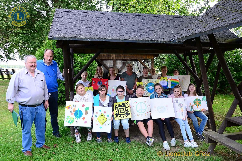 Freie Regelschule Reudnitz: Lions Club Greiz zeichnet beste Plakatgestalter aus