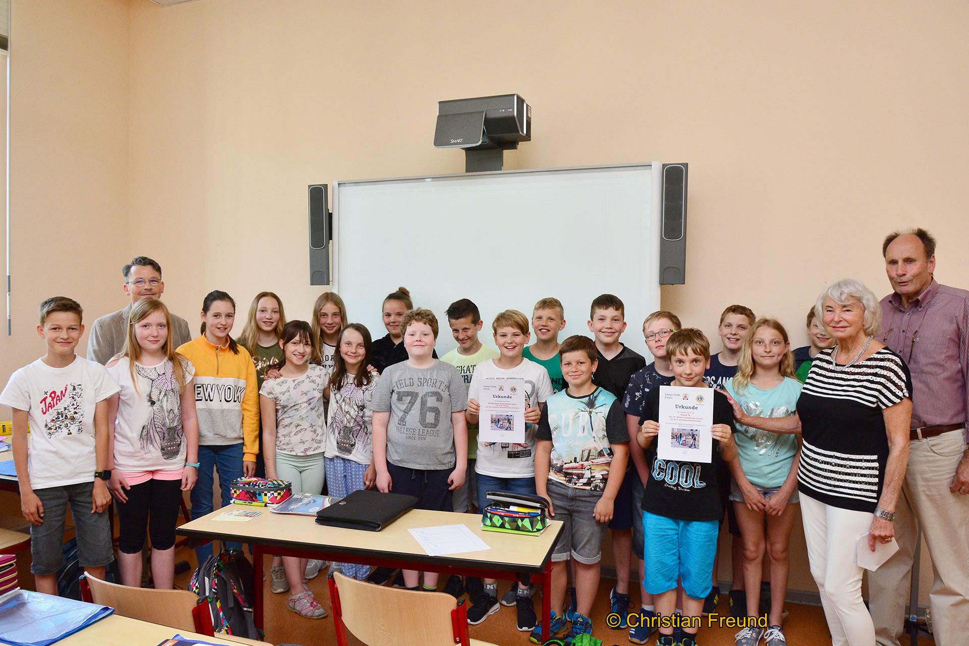 Die Klasse 5c erhielt 15 Euro