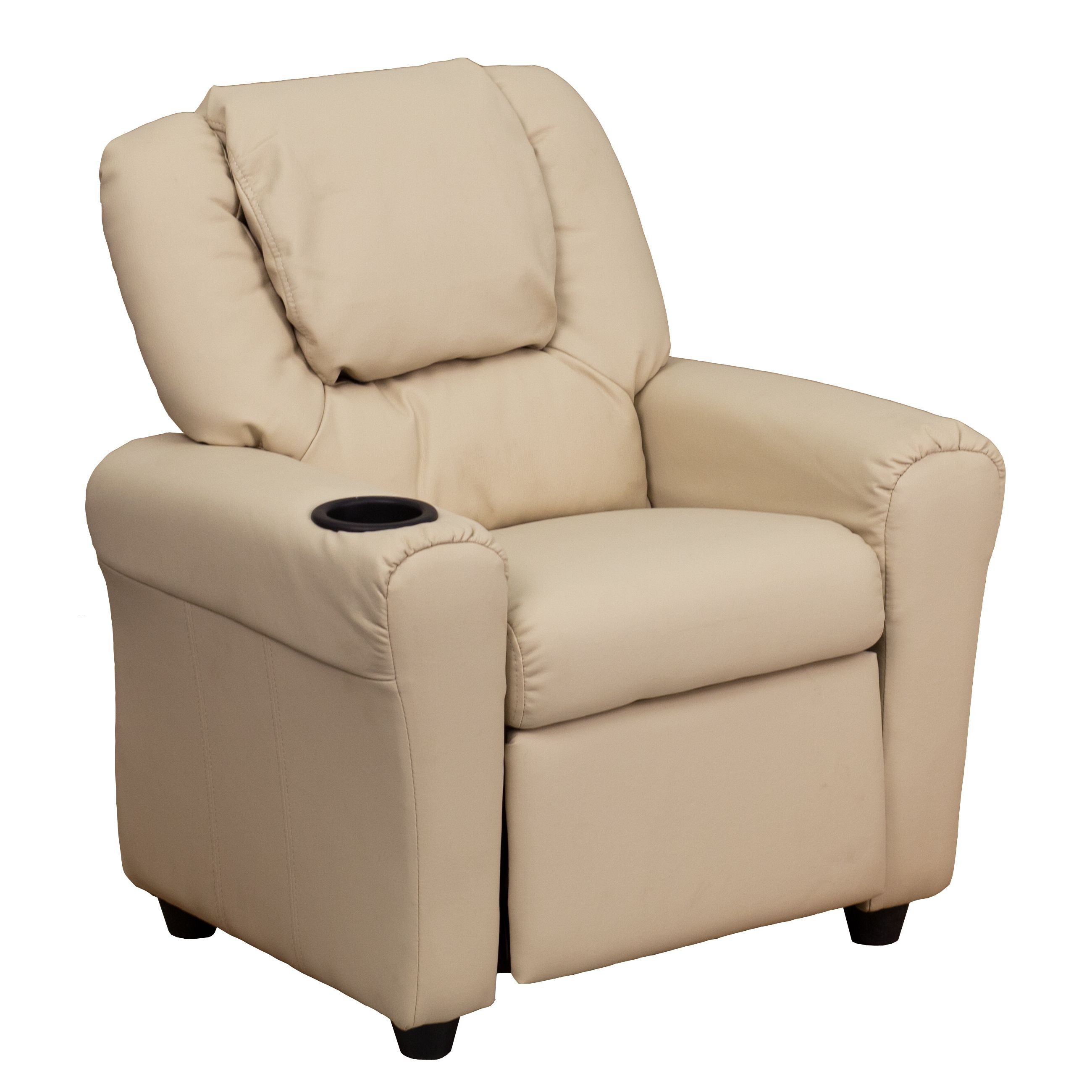 Kids Reclining Chair Flash Furniture Dg Ult Kid Bge Gg Contemporary Beige Vinyl