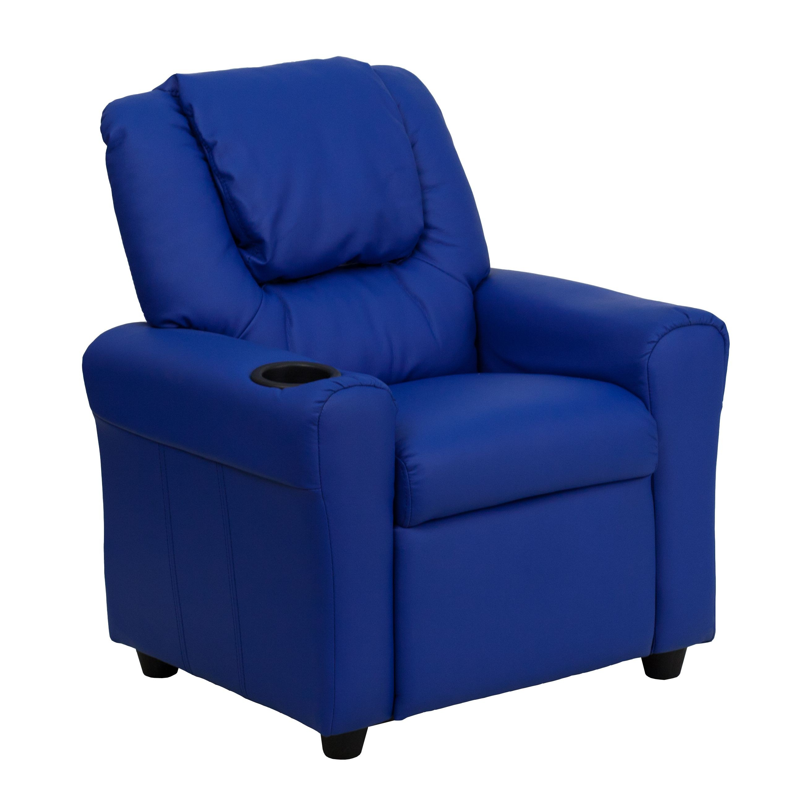 Children's Lounge Chair Flash Furniture Dg Ult Kid Blue Gg Contemporary Blue Vinyl