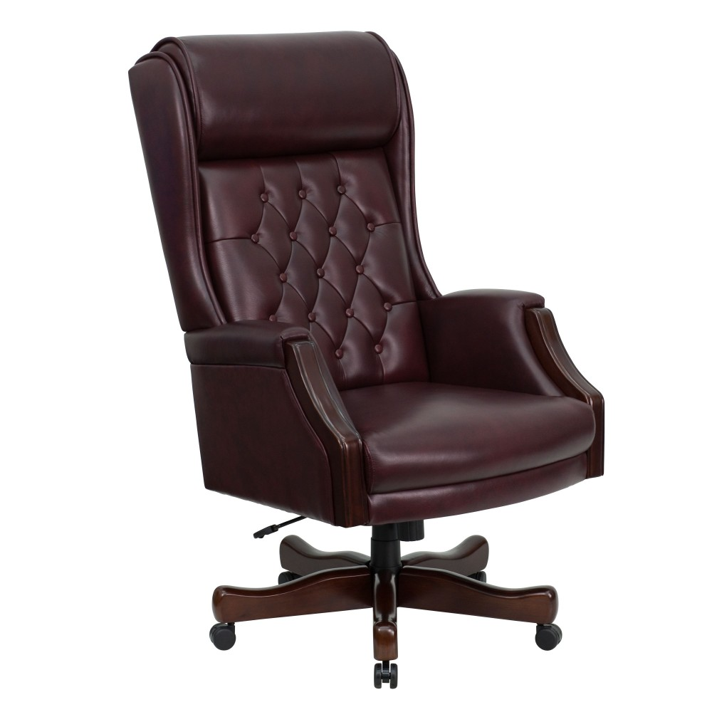 Tufted Leather Office Chair Flash Furniture Kc C696tg Gg Tufted High Back Executive Leather Office Chair
