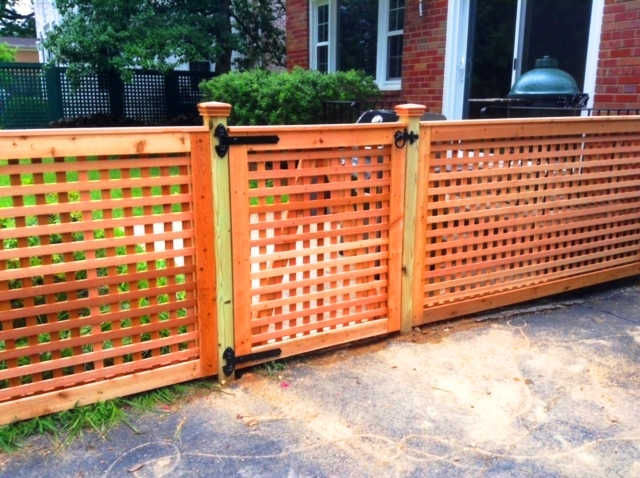 Cedar Lattice Work Fence