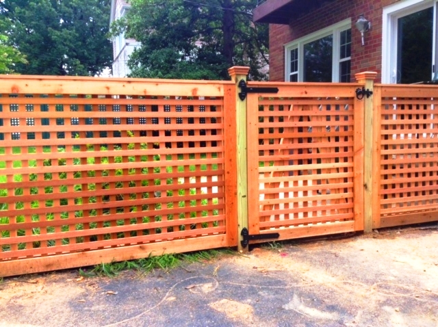 Cedar Lattice Work Fence