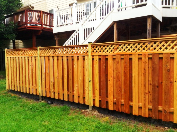 Cedar Board on Board w. Diagonal Lattice Topper South Riding Loudoun County VA by Lions Fence