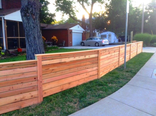 Cedar Horizontal Board Fence
