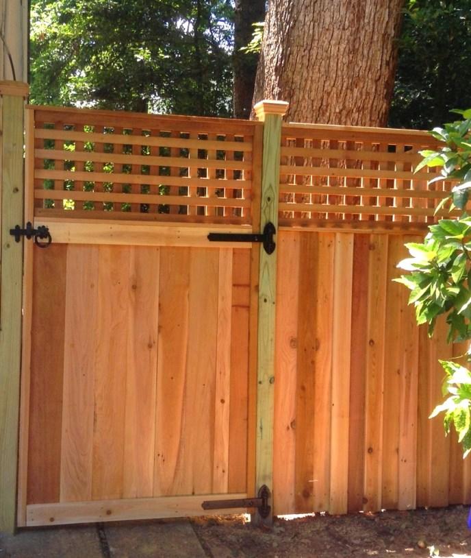 Cedar Privacy with Lattice Arlington Arlington County VA by Lions Fence 3