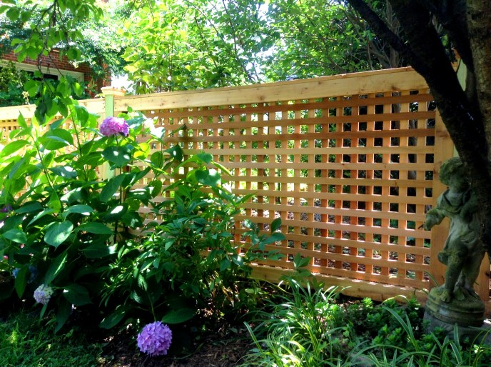 Cedar Square Lattice Fence