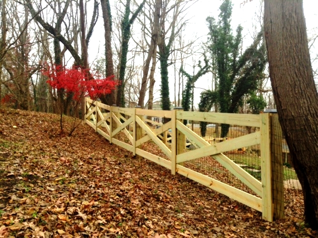 Four Board Estate Fence Clifton Fairfax County VA by Lions Fence 3