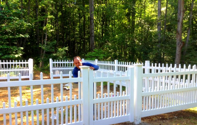 Vinyl Picket Fence Clifton Fairfax County VA 4