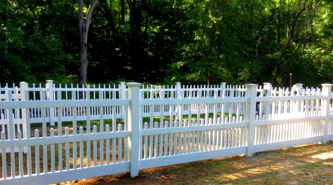 Vinyl Picket Fence Clifton Fairfax County VA 5