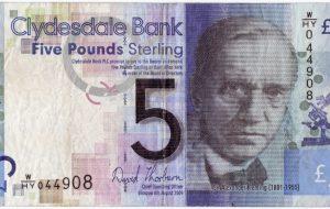 Scottish 5 Pound Note