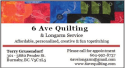 Ad: 6 Ave Quilting & Longarm Service