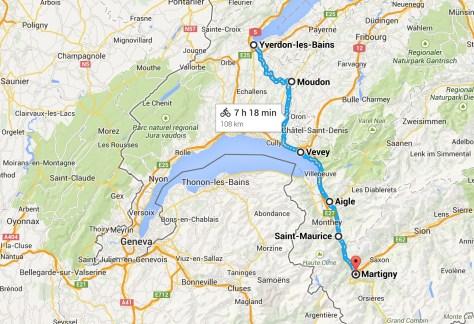 Day 4 - Yverdon to Martigny Switzerland