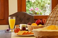 BREAKFAST AT LIONS NINE-PILIO HOTEL