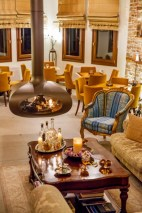 LIONS NINE- LOBBY FIREPLACE-PELION HOTEL