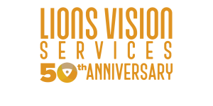 lions vision services 50th anniversary logo