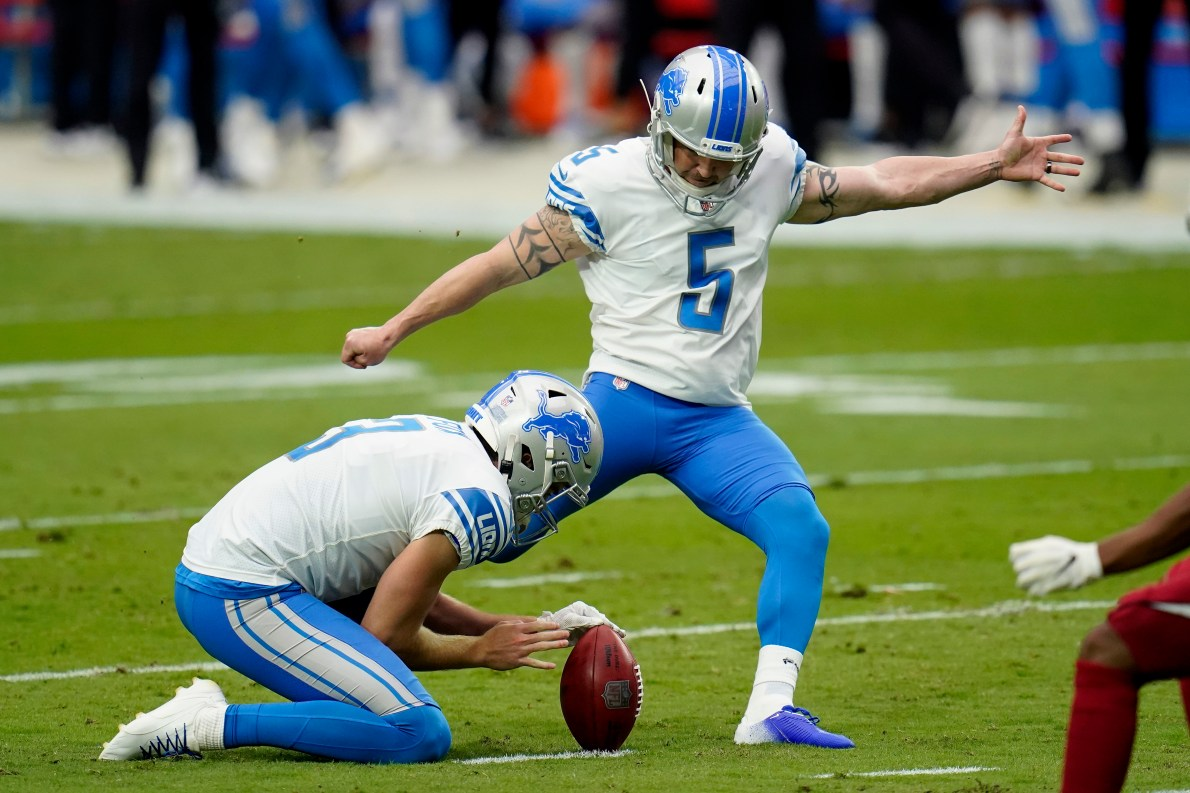 Matt Prater hopes to be back with the Lions in 2021