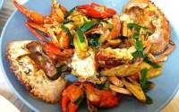 薑蔥炒蟹,劏蟹方法,蟹